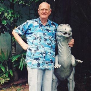 Fascinated by dinosaurs from a young age, Arthur C Clarke had a miniature T Rex replica in his Colombo garden